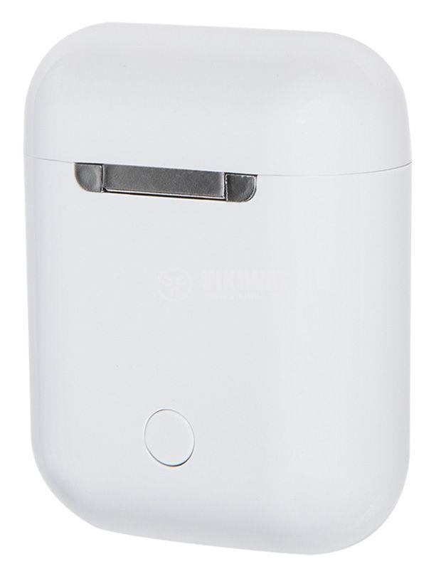 Безжични слушалки i9S 5.0, Bluetooth, вграден микрофон, бели - 5