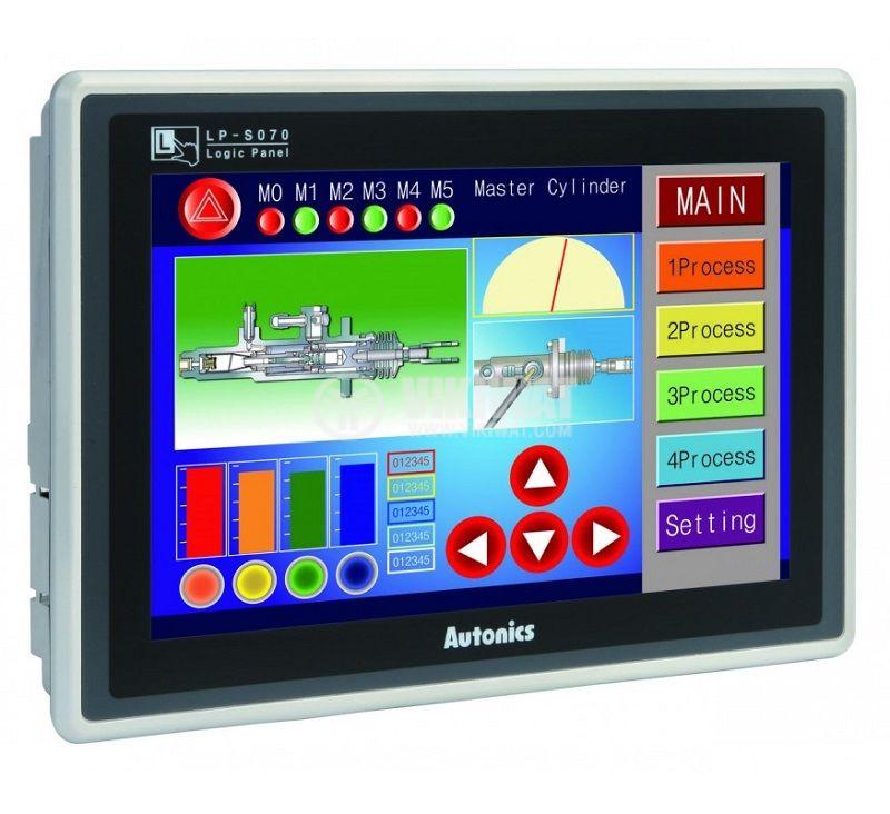 Сензорен дисплей HMI + PLC + I/O модул, 16 входа/изхода, TFT, 7inch, 800x480px, 24VDC, LP-S070-T9D6-C5R - 1
