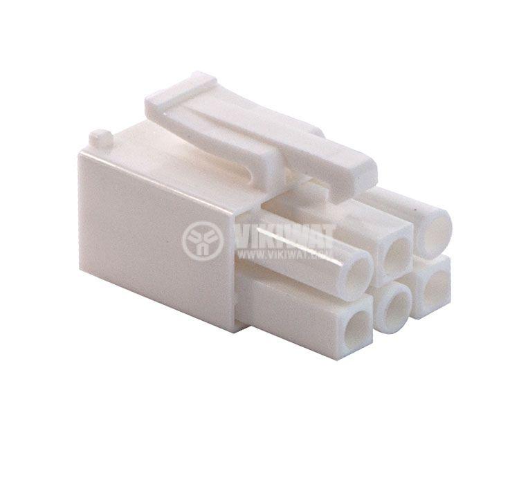 Конектор за обемен монтаж мъжки, VF45002-6P, 6 пина - 1