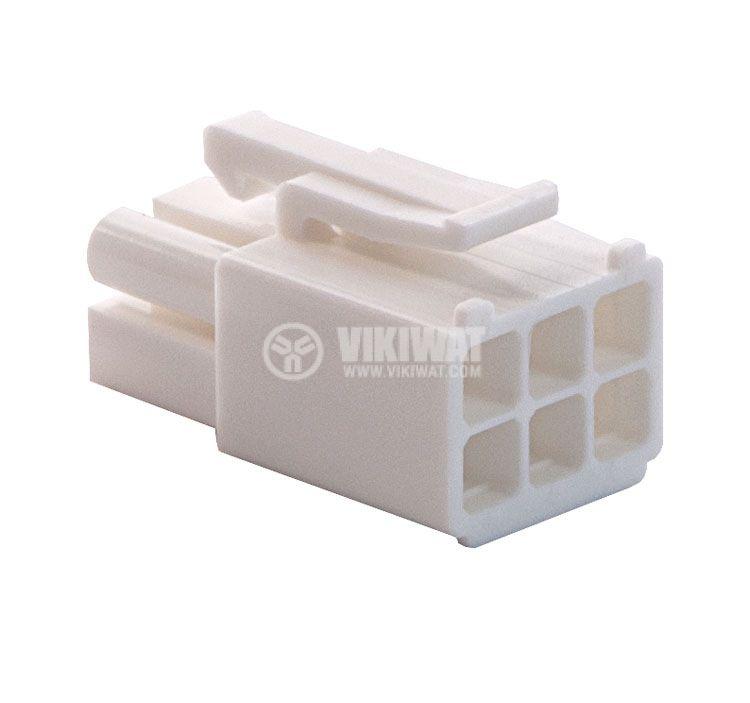 Конектор за обемен монтаж мъжки, VF45002-6P, 6 пина - 4