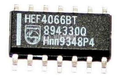 Интегрална схема 4066, CMOS, Quad Bilateral Switch, SMD - 1