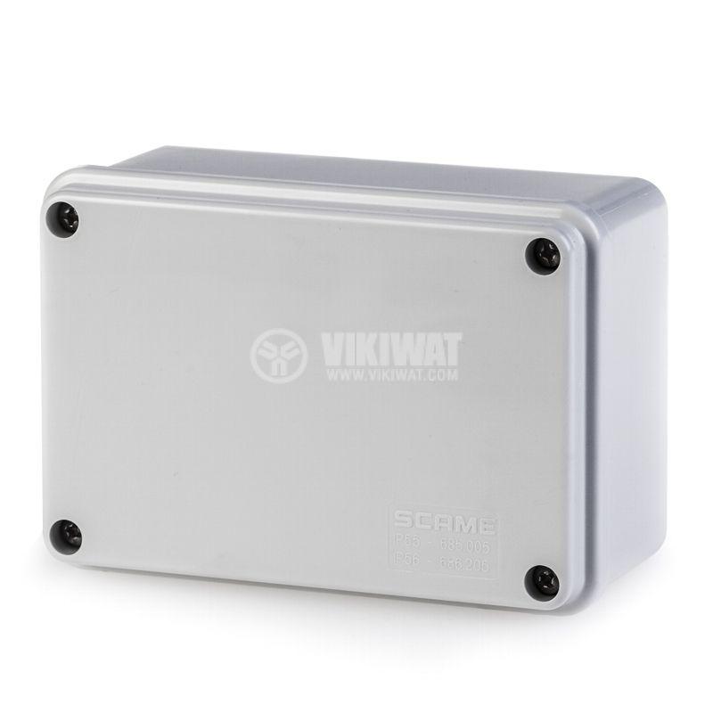 Универсална разклонителна кутия 686.205 за стенен монтаж 120x80x50mm инженерна пластмаса