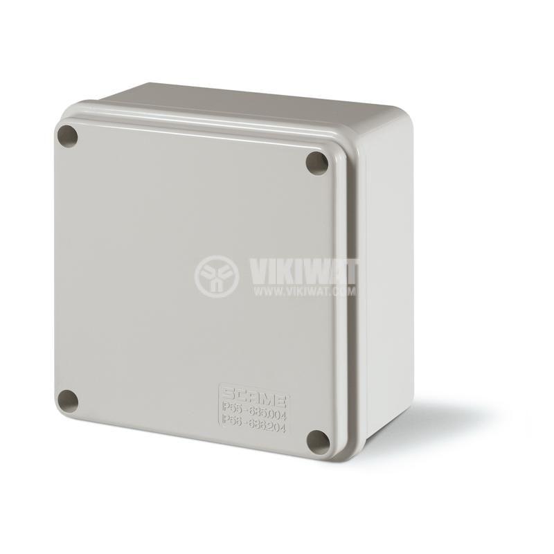 Универсална разклонителна кутия 686.204 за стенен монтаж 100x100x50mm инженерна пластмаса