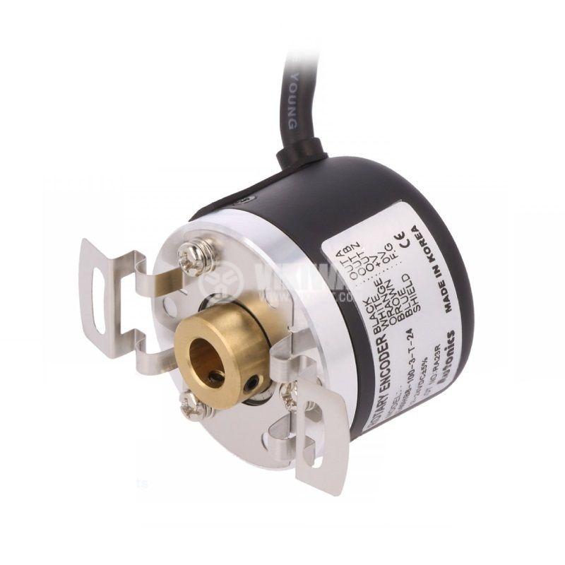 Енкодер инкрементален, 12~24VDC, 100имп./об, ф8mm, E40HB8-100-3-T-24