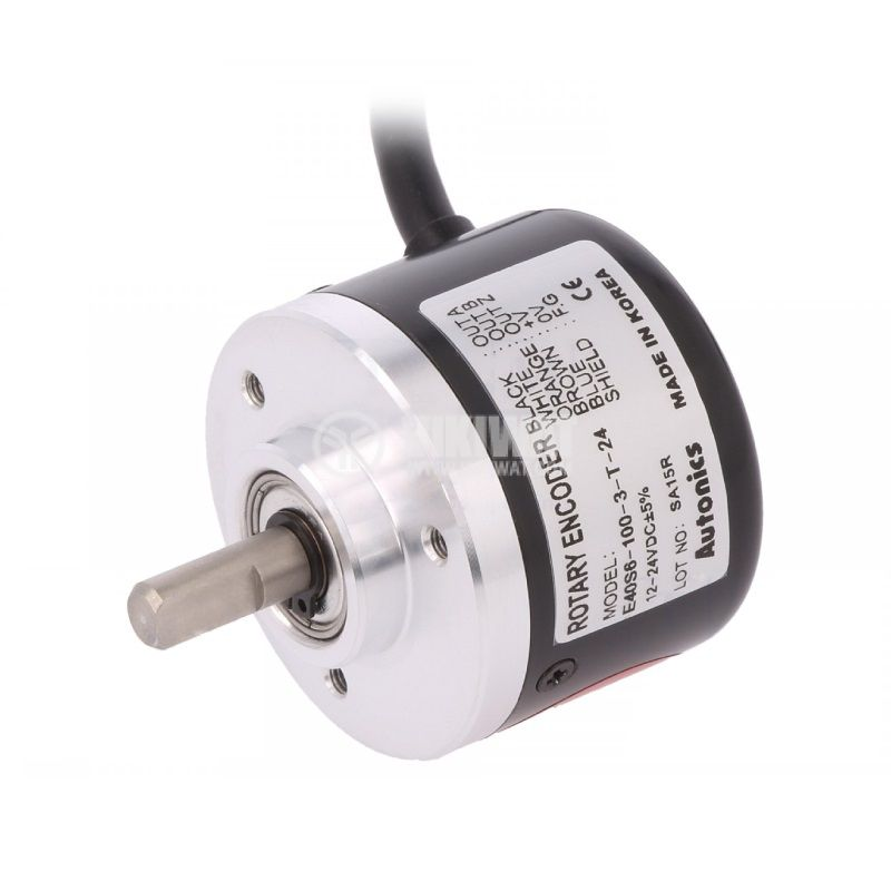 Incremental Rotary Encoder, 12~24VDC, 100PPR, ф6mm, E40S6-100-3-T-24