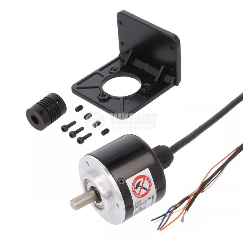 Енкодер инкрементален, 12~24VDC, 500имп./об, ф8mm, E50S8-500-3-T-24