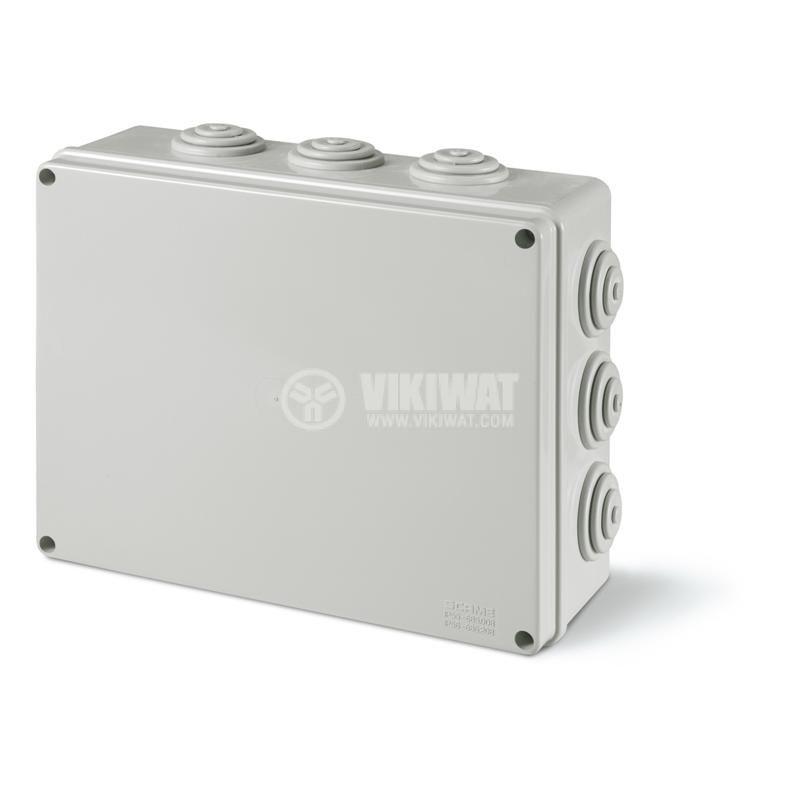 Универсална разклонителна кутия 685.008 за стенен монтаж 240x190x90mm инженерна пластмаса