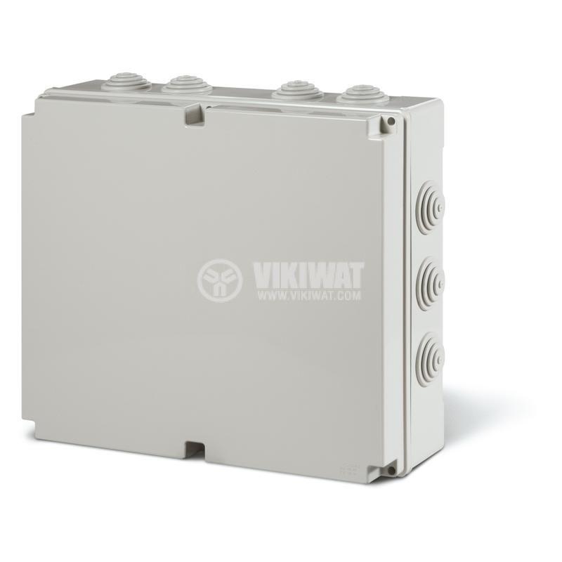 Универсална разклонителна кутия 685.010 за стенен монтаж, 380x300x120mm, инженерна пластмаса