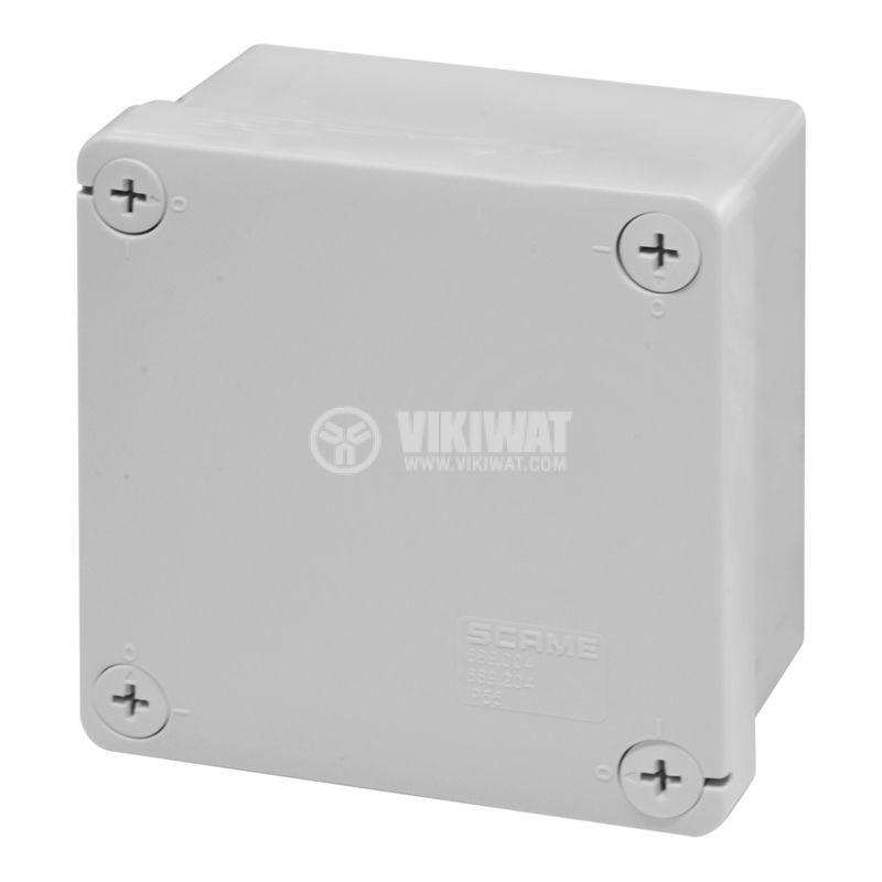 Универсална разклонителна кутия 689.204 за стенен монтаж 100x100x50mm термопластмаса