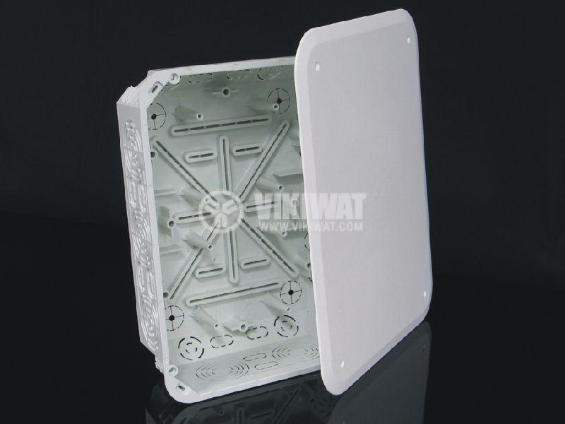 Разклонителна кутия KT250/1, с капак, за вграждане в стени с мазилка