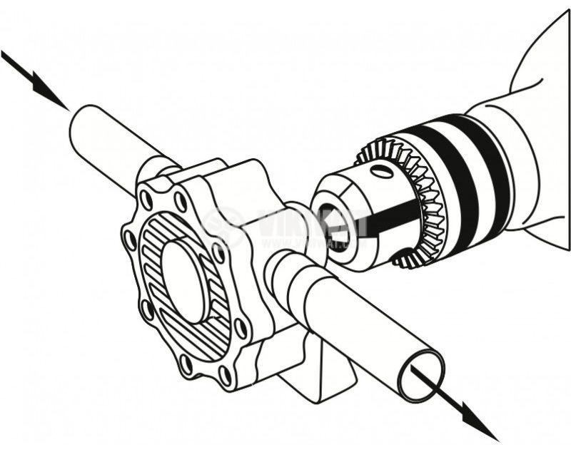 Помпа за течности M 446 за бормашина/винтоверт 1500l/h 1/2 inch - 4
