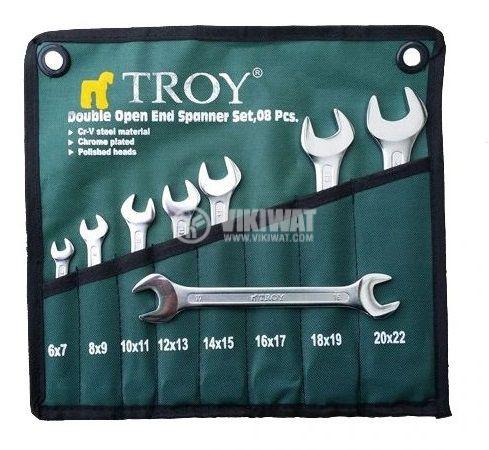 Комплект гаечни ключове 8 части от 6 mm до 22 mm