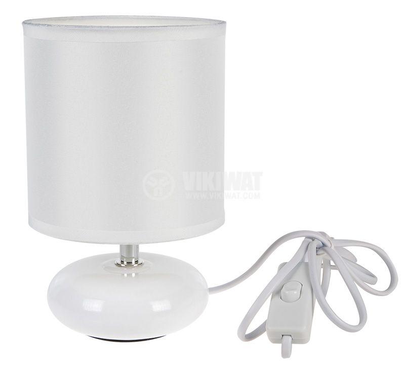Настолна лампа, 220VAC, 7W, ZUMBA, бяла