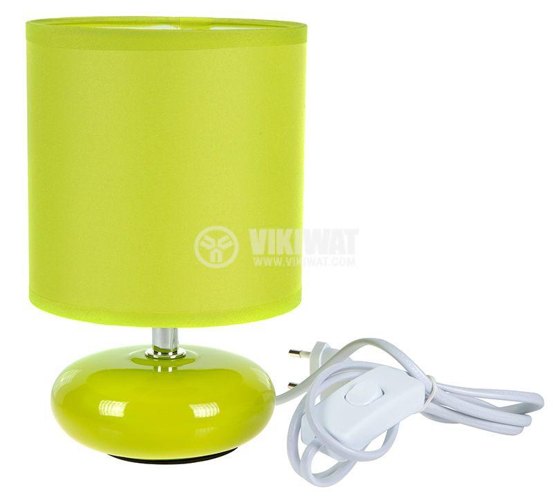 Настолна лампа, 220VAC, 7W, ZUMBA, зелена