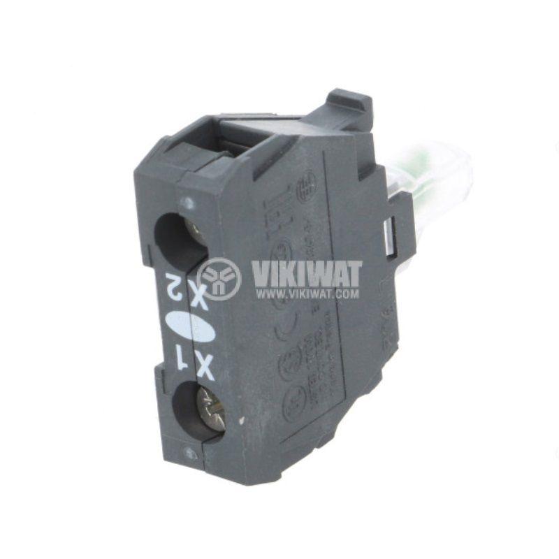 Индикаторна лампа, LED, ZBV18B1,24VAC/VDC, бял, отвор ф22mm, мигаща - 2