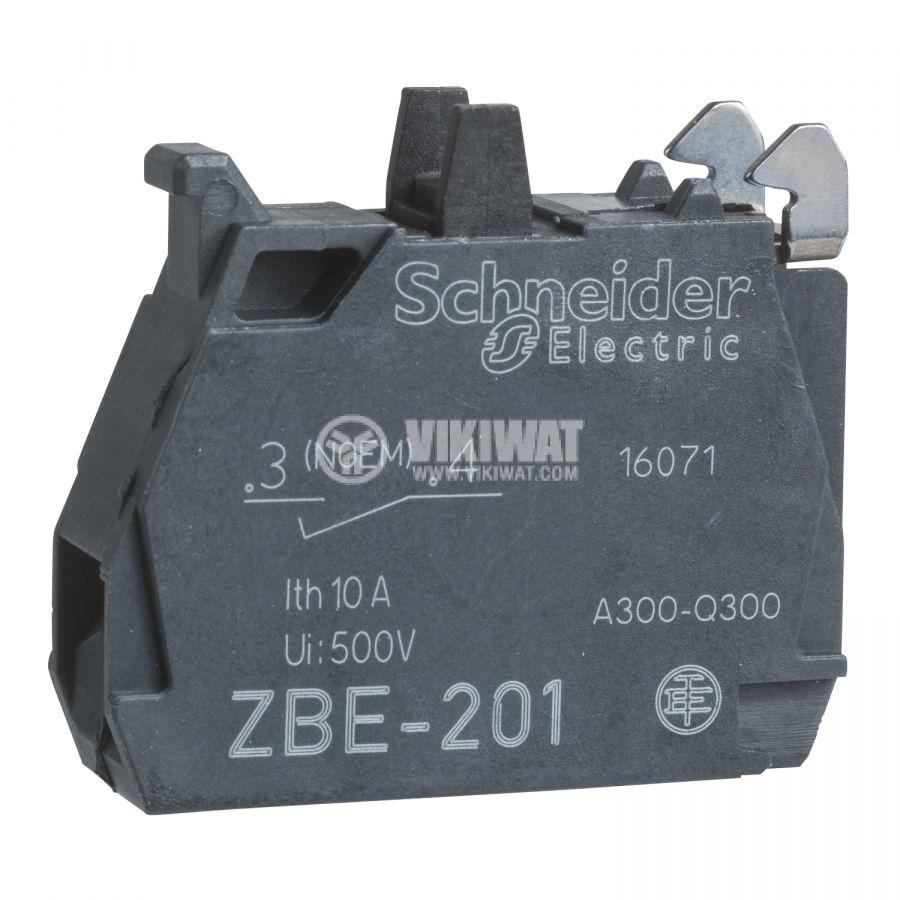 Контактен блок ZBE201, 3A/240VAC, SPST-NO - 1