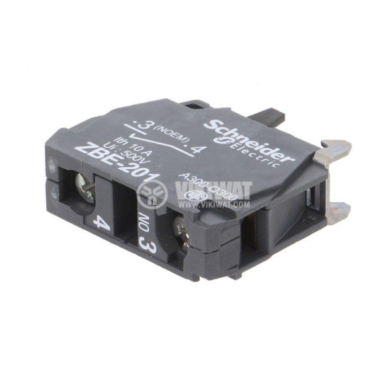 Контактен блок ZBE201, 3A/240VAC, SPST-NO - 2