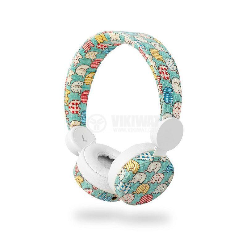 Слушалки HPWD4100WT жак 3.5mm 85dB 1.2m бели със слончета NEDIS - 3
