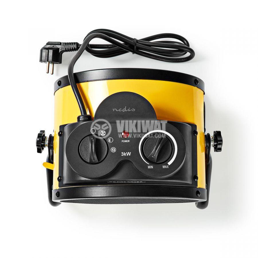 Керамична вентилаторна печка 1500/3000W 1.5m IP24 HTIF30FYW - 7