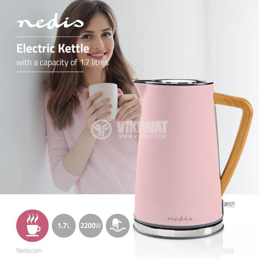 Електрическа кана KAWK510EPK 1.7l 1850-2200W 230V розова - 6