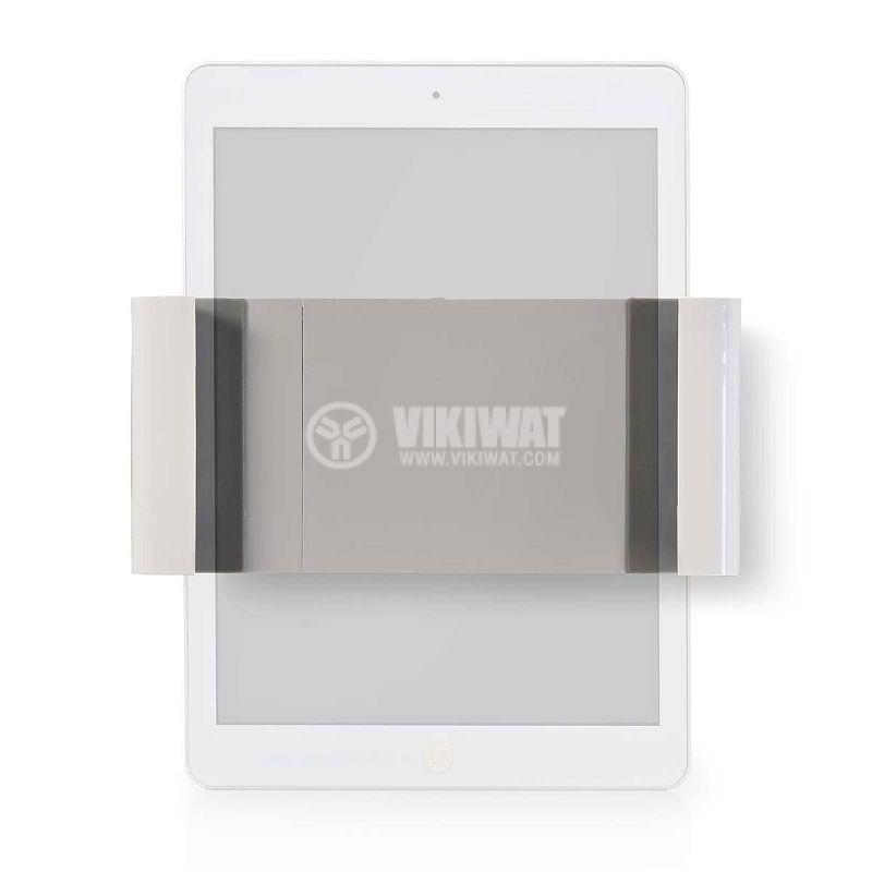 Универсална стойка за таблет ширина от 7 до 12 инча за стена бяла/сива - 1