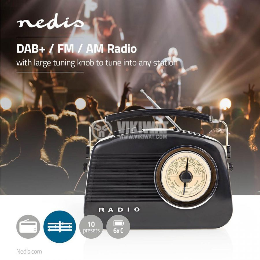 Retro radio RDDB5000BK FM/AM/DAB/DAB+ 1.8 88~108.5MHz - 8