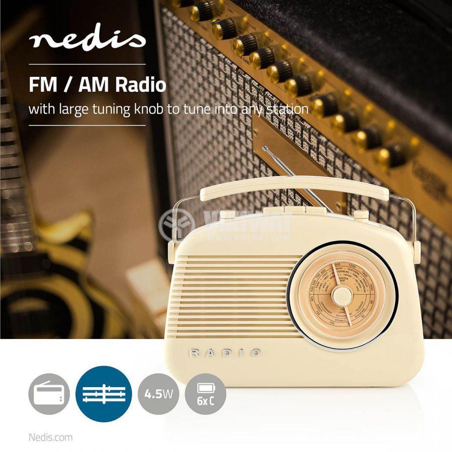 Ретро радио RDFM5000BG FM/AM 1.8 88~108.5MHz - 7