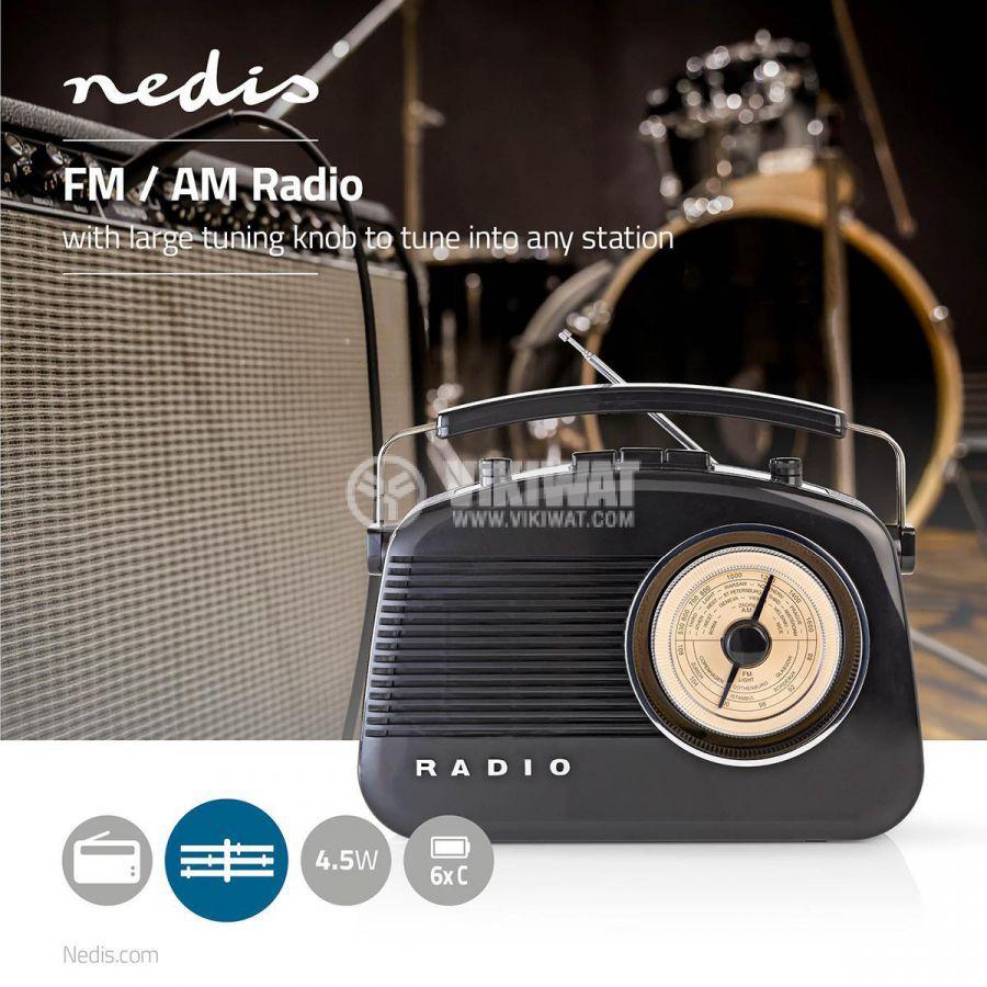Retro radio RDFM5000BK FM/AM 1.8 88~108.5MHz - 7