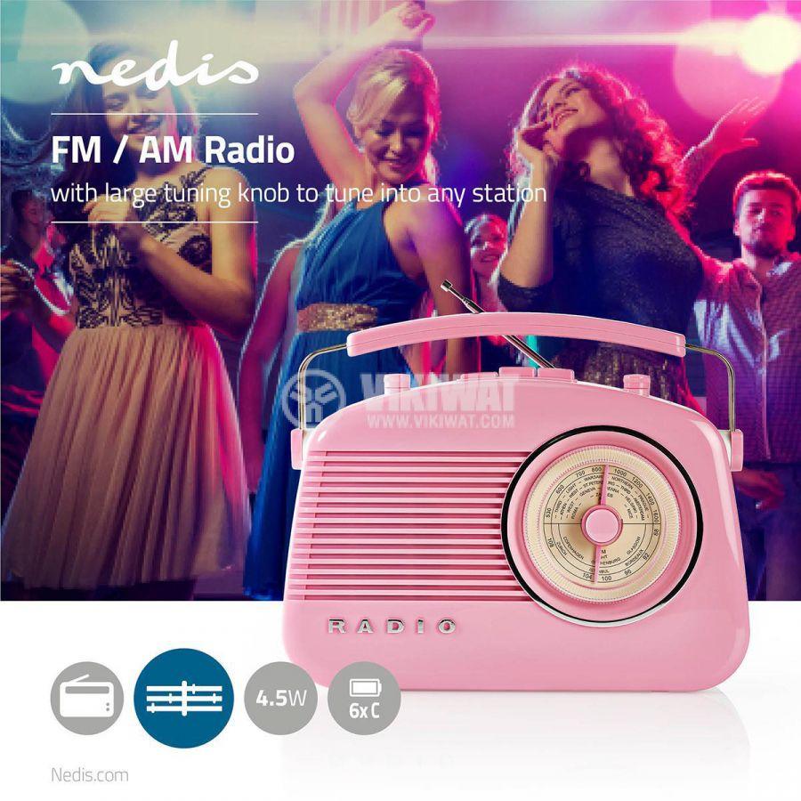 Retro radio RDFM5000PI FM/AM 1.8 88~108.5MHz - 7