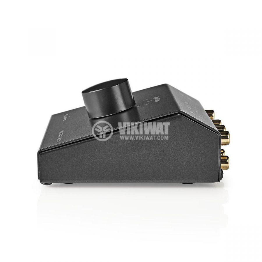Аудио превключвател троен 3x(2xRCA/f) - 2xRCA/f черен ASWI2403BK - 3