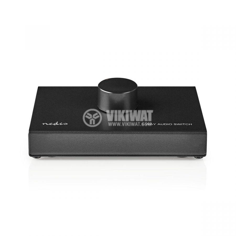 Аудио превключвател троен 3x(2xRCA/f) - 2xRCA/f черен ASWI2403BK - 2