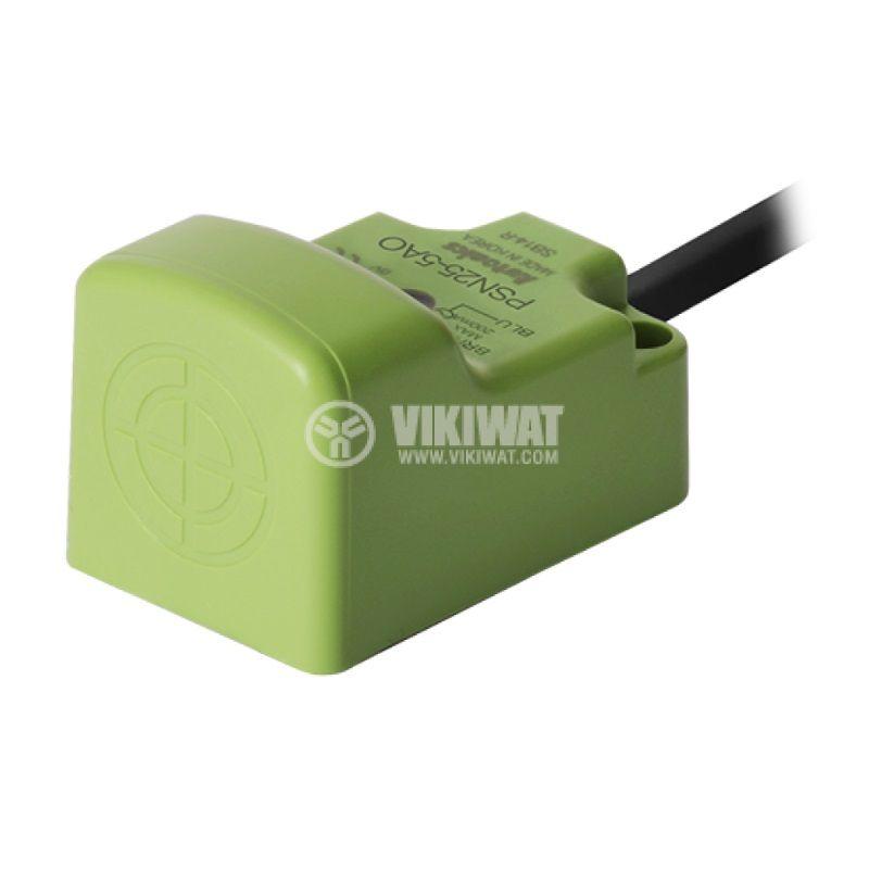 Индуктивен датчик PSN25-5AO, 100~240VAC, NO, 5mm, 25x25x39mm, екраниран - 1
