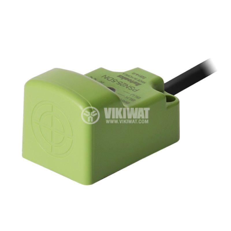 Индуктивен датчик PSN25-5DN 10~30VDC NPN NO 5mm 25x25x39mm - 1
