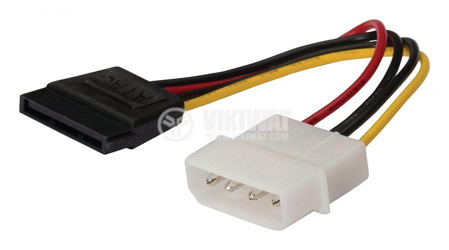 Захранващ кабел Molex/m - SATA 15-Pin/f 150mm KNC73500V015 KONIG