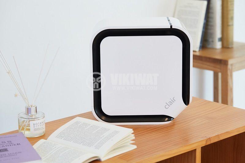 Дизайнерски безшумен пречиствател за въздух Clair Cube, квадрат, e2f филтър йонизатор - 4