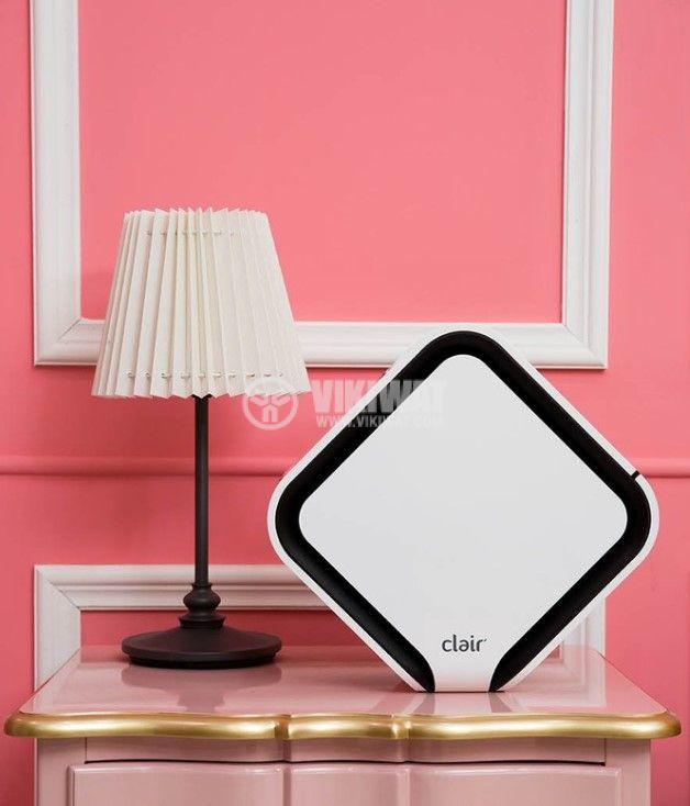 Малък пречиствател за въздух Clair Cube C1BU1933, патентован e2f филтър, UV бактеридна лампа, икономичен 2-6w - 5