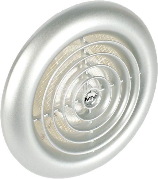 Предпазна решетка за вентилатор инокс 100mm кръгла PVC