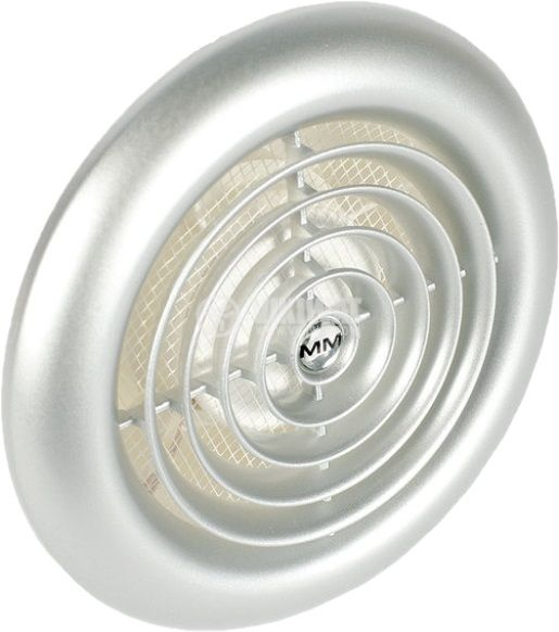 Предпазна решетка за вентилатор инокс ф120mm кръгла PVC