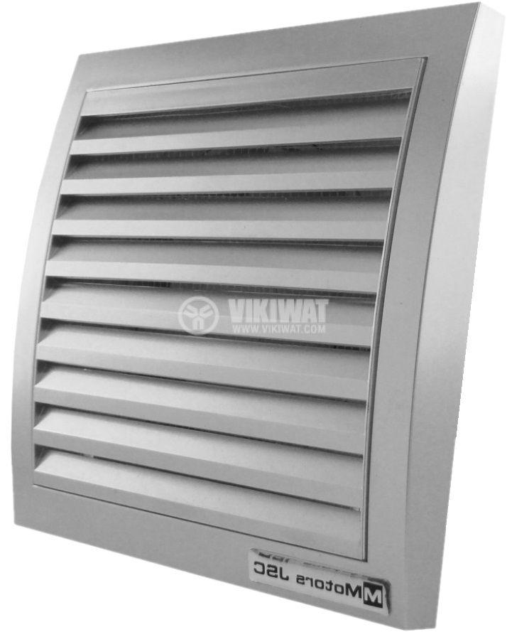 Предпазна решетка за вентилатор ф120mm инокс квадратна PVC
