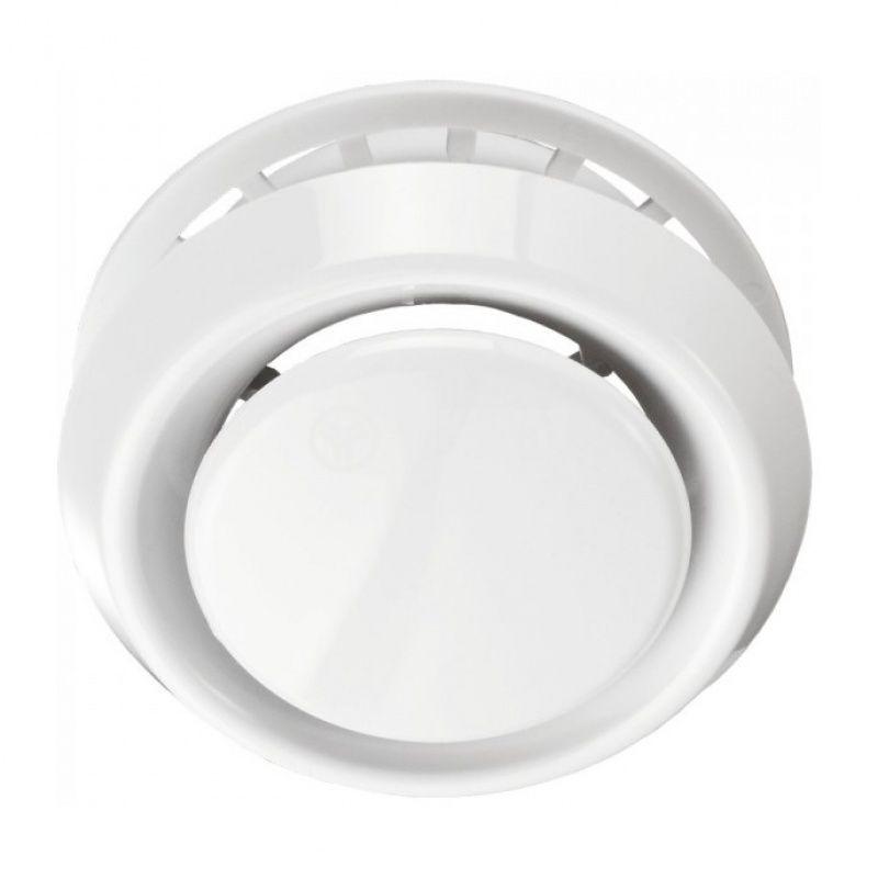 Вентилационна решетка за вентилатор ф120mm бяла кръгла PVC