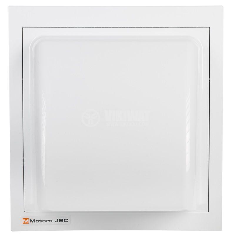 Вентилационна решетка за вентилатор ф150mm бяла кръгла PVC - 1