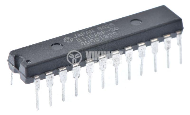 Интегрална схема памет 6116ASP-20, 16Kbit static HCMOS RAM, DIP24 - 1