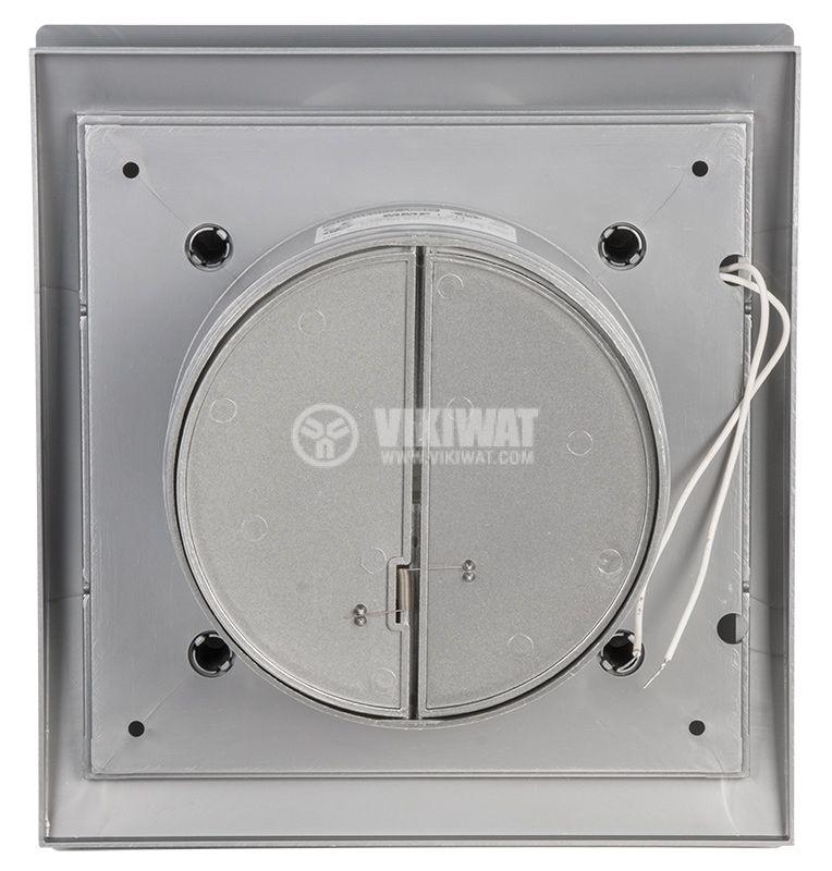 Вентилатор за баня MMP 01, ф120mm с клапа, 230VAC, 18W, 150m3/h - 3