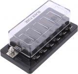Държач за автопредпазители с капак и 6 гнезда, SCI R3-76C-01-3L106, 32VDC/30A
