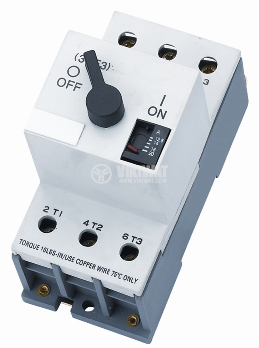 Motor protection circuit breaker (AT00) DZ108-3, three-phase, 16-25 A