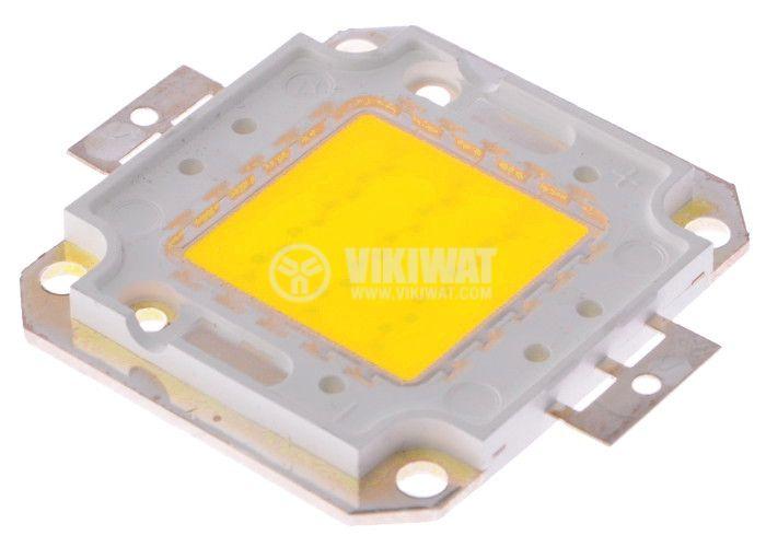 LED diode, 20W, cool white, 6000K, 46x40x4.3mm