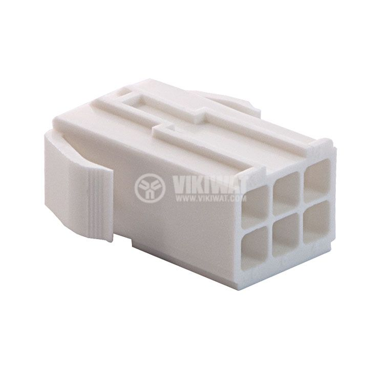 Конектор за обемен монтаж женски, VF45003-6RF, 6 пина - 4