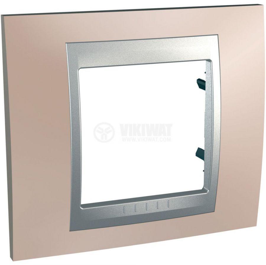 Единична рамка, Schneider, Unica Top, едно гнездо, цвят оникс, MGU66.002.096