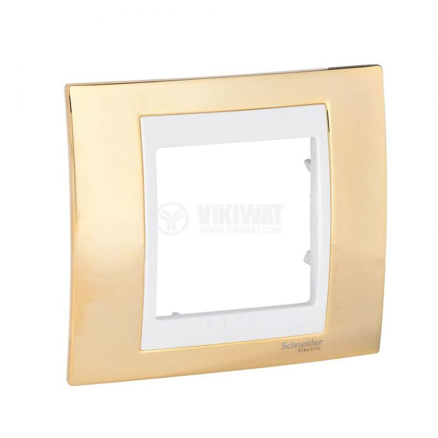 Единична рамка, Schneider, Unica Plus, едно гнездо, цвят злато, MGU66.002.504