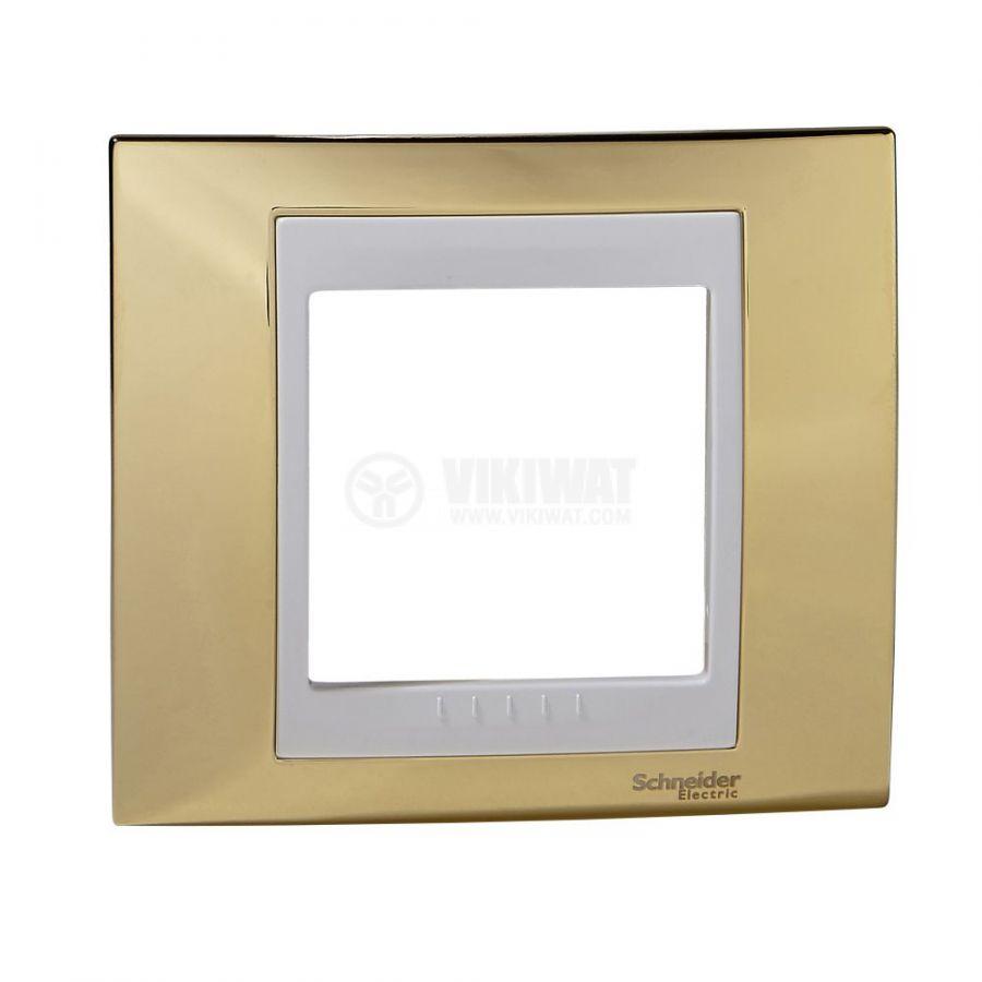 Единична рамка, Schneider, Unica Plus, едно гнездо, цвят злато, MGU66.002.804